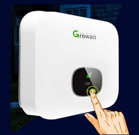 Growatt MIN touch button