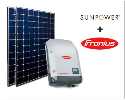 Sunpower +Fronius