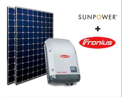 Sunpower +Fronius
