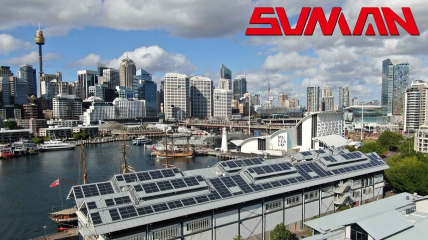 SunMan Lightweight Solar Panels Power Maritime Museum